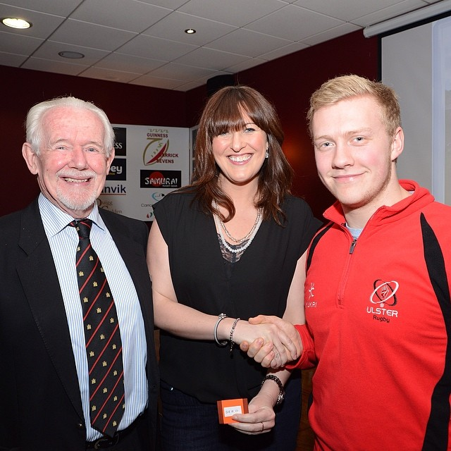 Richard Price, Eleanor Wilson of Abbey Insurance and Stuart Olding #carricksevens